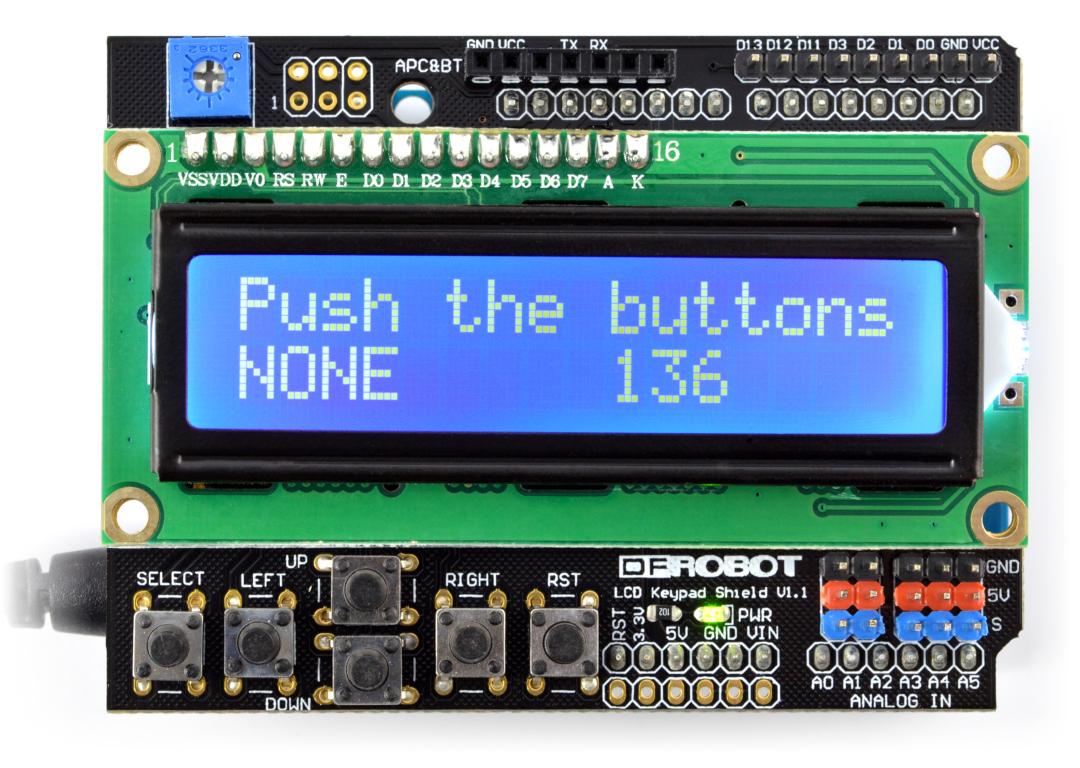 Dfrobot Lcd Keypad Shield V1 1 Wyświetlacz Dla Arduino