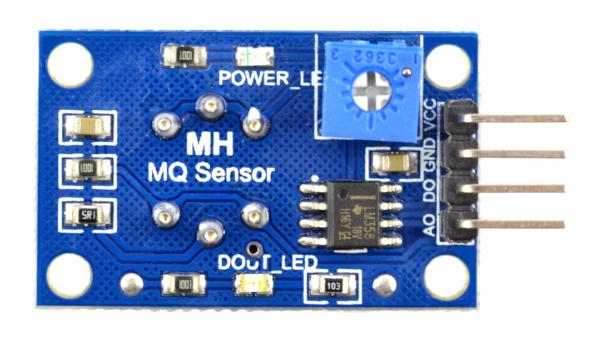 MQ-2 - moduł niebieski - schemat wyprowadzeń