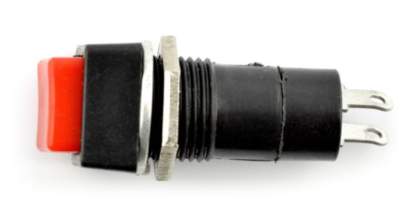 Przełącznik ON-OFF chwilowy, kwadratowy 250V/1A