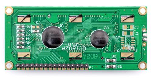 Wyświetlacz LCD 2x16 - niebieski ze złączami