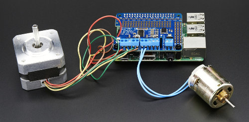 Adafruit Mini Kit 16-kanałowy sterownik PWM - Servo Hat do Raspberry Pi