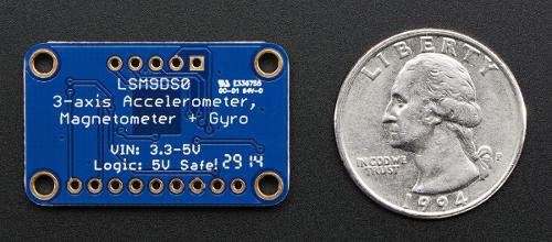 LSM9DS0 - akcelerometr, żyroskop i magnetometr IMU 9DoF I2C/SPI - moduł Adafruit