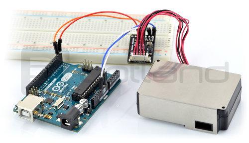 Laserowy czujnik cząstek podłączenie Arduino
