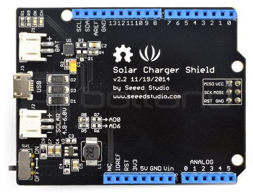 Solar Charger Shield v2.2 - nakładka dla arduino
