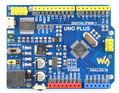 WaveShare Uno Plus - moduł, platforma avr, arduino, kompatybilny