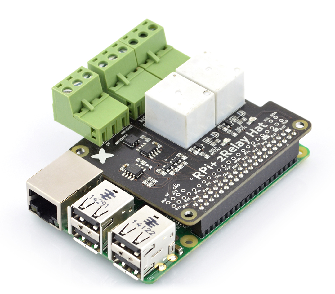 Relay Hat for Raspberry Pi - 2 relays 240V/10A*