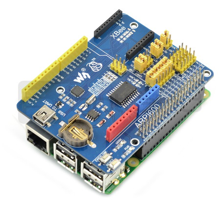 ARPI600 - RTC clock, A / C converter, interface for XBee - extension to  Raspberry Pi*