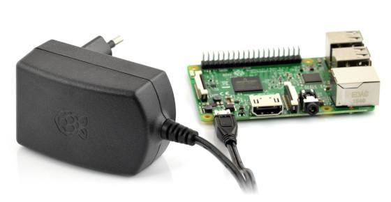 Zasilacz microUSB 5,1V 2,5A Raspberry Pi - oryginalny