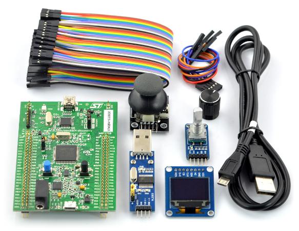 Kurs STM32F4 Discovery - zestaw elementów