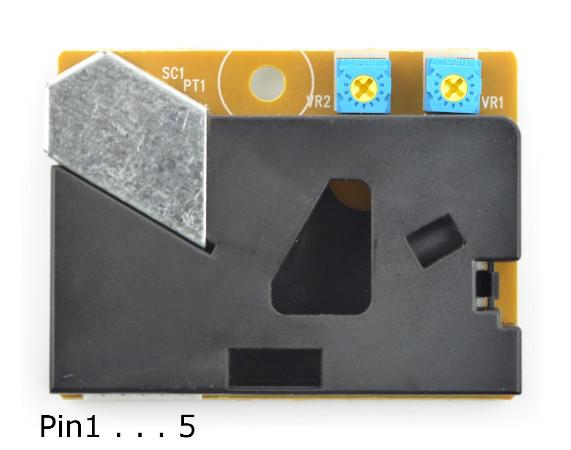 Czujnik pyłu / stężenia cząstek - schemat wyprowadzeń