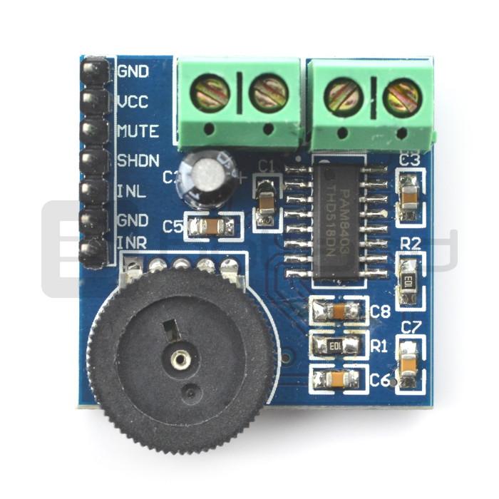 Amplifier audio stereo 2x3W 5V PAM8403_