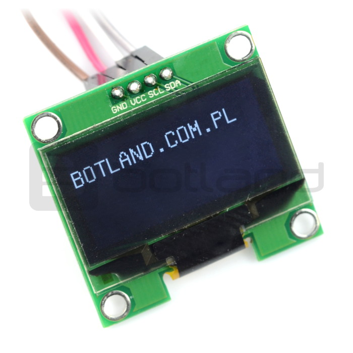 OLED blue graphic display 1,3'' 128x64px I2C v2 - blue characters_