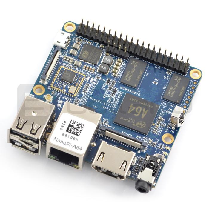 NanoPi A64 WiFi - Allwinner A64, Quad-Core 1,15GHz + 1GB RAM