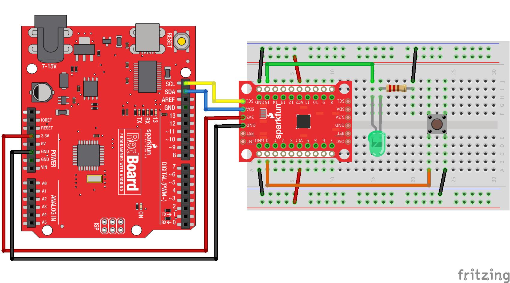 SparkFun SX1509 - ekspander wyprowadzeń dla Arduino