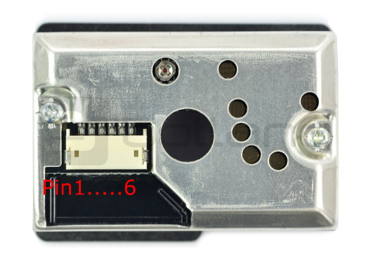 Wyprowadzenie pinów Sharp GP2Y1010AU0F