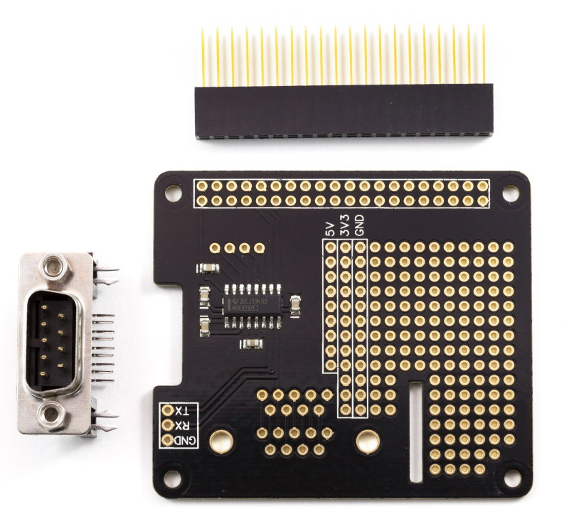 Serial Pi Plus MAX3232 - RS232 interface for Raspberry Pi*