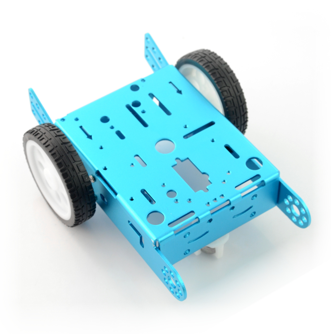 Blue Metal Chassis 2WD 2-Wheel with DC Motor Drive_