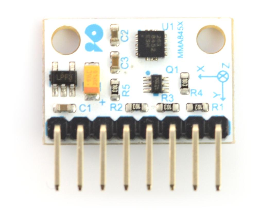 Velleman VMA208 - 3-osiowy akcelerometr MMA8452Q I2C cyfrowy - ze złączami