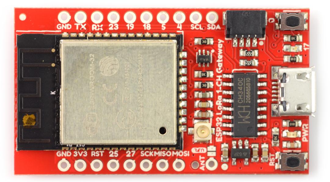 SparkFun LoRa Gateway - 1-kanałowa bramka sieciowa ESP32, RFM95W