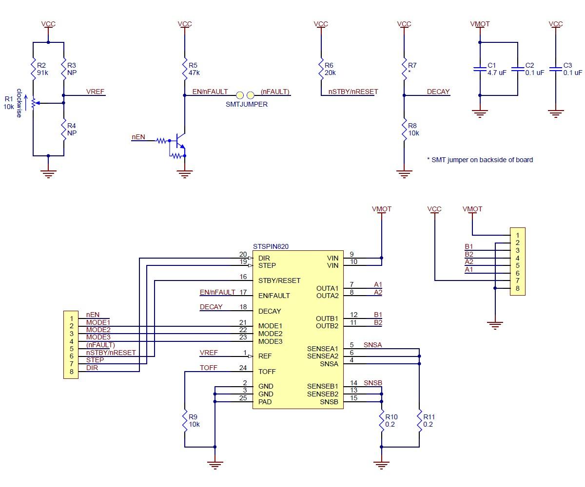 STSPIN820 - sterownik silnika krokowego 45V / 0,9A