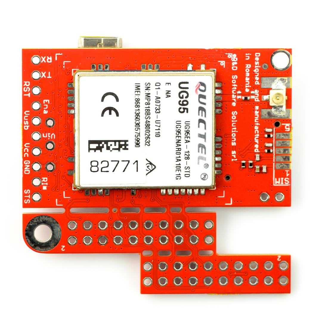 Module 3G/GSM - u-GSM shield v2 19 UG95E - for Arduino and Raspberry Pi -  u FL connector