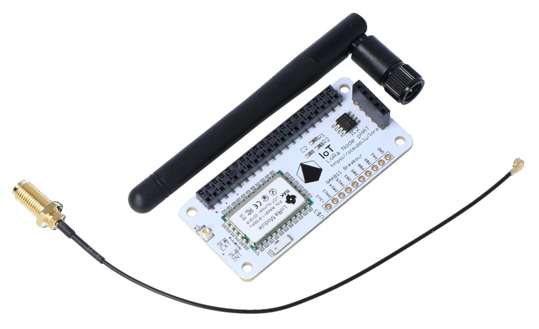 IoT LoRa Node pHAT 868MHz/915MHz - nakładka dla Raspberry Pi  4B/3B+/3B/2B/Zero