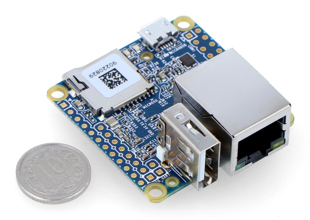 NanoPi NEO v1 4 - Allwinner H3 Quad-Core 1,2GHz + 512MB RAM - bez złączy