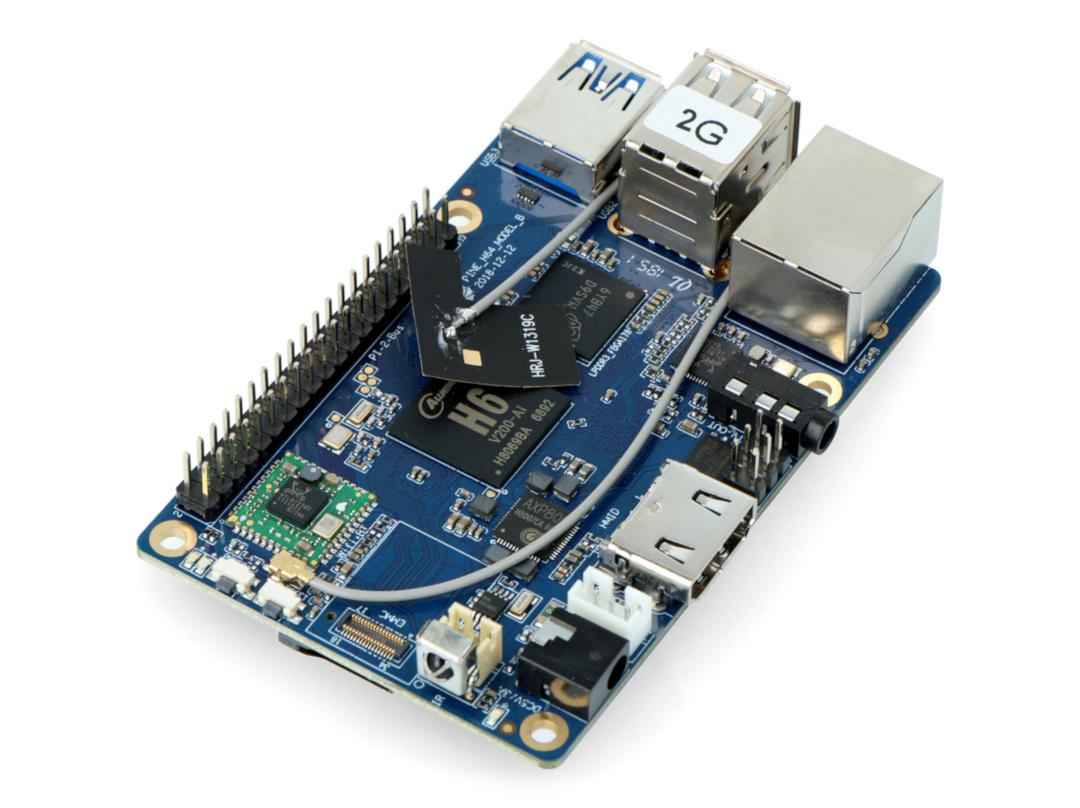 Pine64 H64 Model B WiFi Bluetooth - Allwinner H6 Cortex A53 Quad-Core + 2GB  RAM