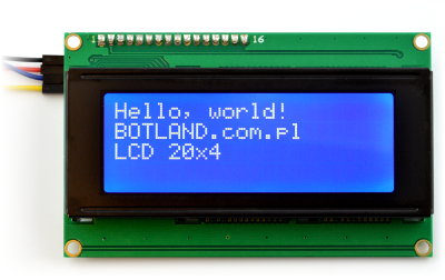 Wyświetlacz LCD 4x20 - niebieski