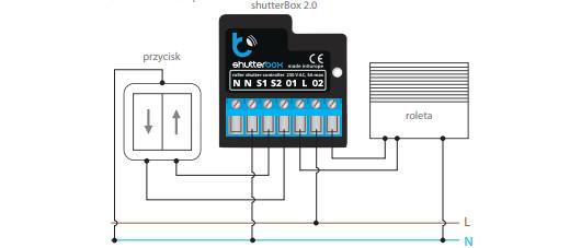 Schemat podłączenia Shutterbox v2.0
