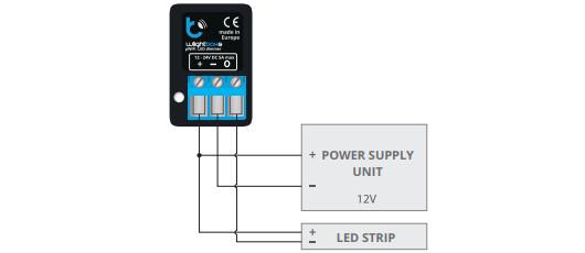 Esquema de conexión en Lightboxs