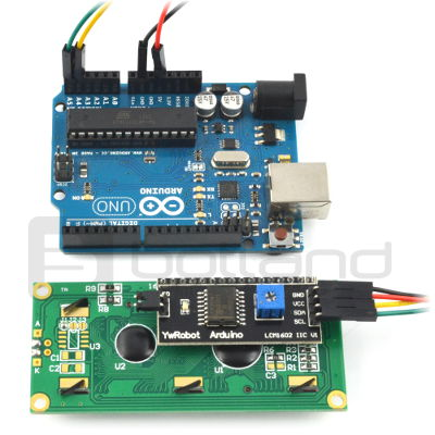 Arduino and 2x16 LCD LCM1602 I2C - Botland - Electronic components parts