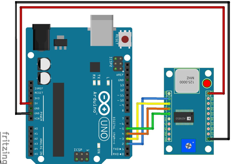 Arduino oraz generator sygnału DDS AD9850 40 MHz - Botland