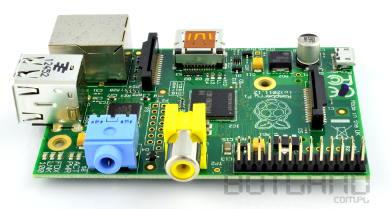 Raspberry Pi złącza GPIO - widok z boku