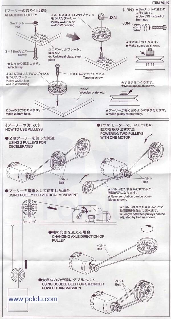Instrukcja montażu przekładni pasowej
