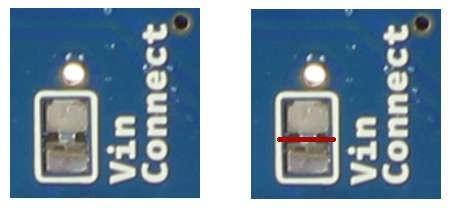 Zworka zasilania Arduino Motor Shield