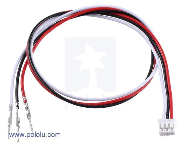 Przewód do podłączenia analogowego czujnika sharp z końcówką męska