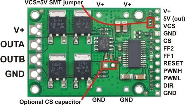 High-Power 36v20 50V/20A - opis wyprowadzen