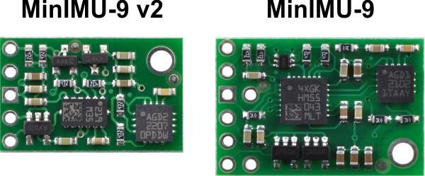 MinIMU-9 v1 vs. MinIMU-9 v2